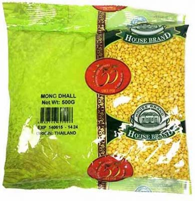 HOUSE BRAND MOONG DHALL 500G