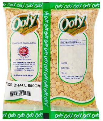 Ooty BOMBAY TOOR DHALL 500G